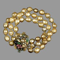 Miriam Haskell Style Baroque Pearl Bracelet