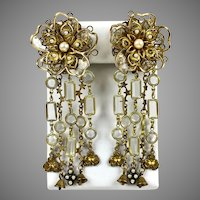 Jaw Dropping Vintage Long Waterfall Earrings