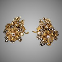 Impressive Signed Miriam Haskell Earrings