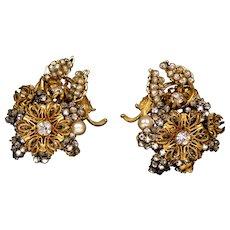 Impressive Signed Miriam Haskell Earrings