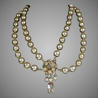 Vintage DeMario Baroque Pearl Necklace