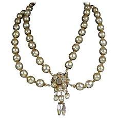 Vintage DeMario Baroque Pearl Necklace