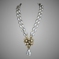 Signed Miriam Haskell Baroque Pearl Necklace