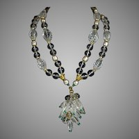 Signed Vintage Miriam Haskell Crystal Necklace