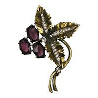 Stunning Vintage Large Flower Pin