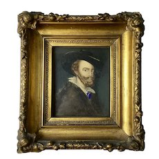 19thC Antique PETER PAUL RUBENS Self-Portrait Old Master Copy Painting