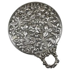 Top Quality Aesthetic Sterling Silver Repousse Hand Mirror