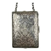 Sterling Silver Necessaire Purse Dated 1911