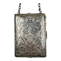 Quality Sterling Silver Necessaire Purse Dated 1911