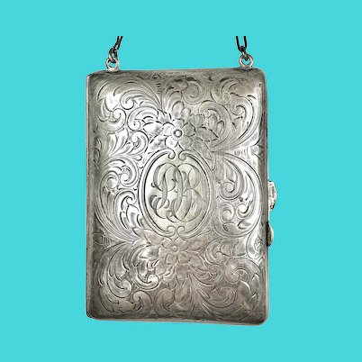Early 20th C Sterling Silver Necessaire Purse Dance Bag