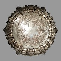 Large Antique Silver on Copper Tray