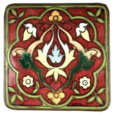 Art Nouveau Ormolu Enamel Trinket Box