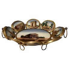 Antique French Paris Expo Grand Tour Calling Card Tray