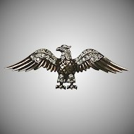 Vintage Sterling Silver Trifari Eagle Pin   Art Deco  Vermeil  Figural  Stunning  RARE