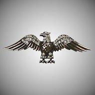 Vintage Sterling Silver Trifari Eagle Pin   Art Deco  Vermeil  Figural  Stunning  RARE
