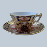 Miniature Royal Crown Derby Cup/Saucer( Doll House)