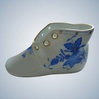 Herend Baby Shoe Blue Flowers Pattern c. 1970
