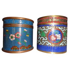 Vintage Chinese Cloisonne and Champleve Enamel Boxes