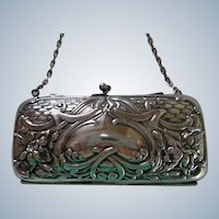 Art Nouveau Purse English Hallmarked 1907 NO INITIALS