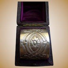 Antique Sterling Napkin Ring English 1876 Hallmark