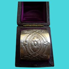 Antique Sterling Napkin Ring English Hallmarked 1876