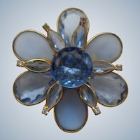 Large Glass Flower Pin/Brooch 1930