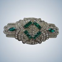 Art Deco Pin/Brooch with Rhinestones 1920