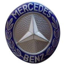 Mercedes Benz Car Emblem 1970's Grill Attachment