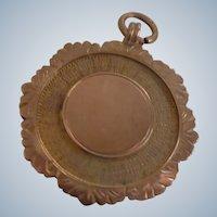 Beautiful 9 Carat Rose Gold English Fob/Pendant 1924