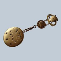 $100 OFF Stunning Art Nouveau Locket Pin/Brooch in 14K G.F. 1890-1910