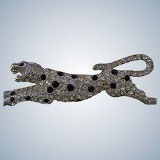 Designer Pin/Brooch Rhinestone Cheetah Kenneth Jay Lane