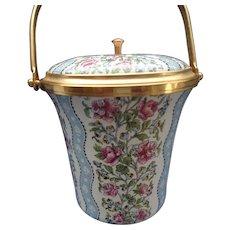 Enamel Potpourri Jar, Halcyon Days England
