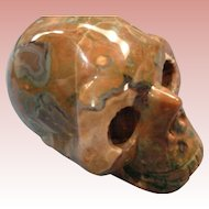 50% OFF Multi-Colored Carved Hardstone Skull -  a piece of sculpture