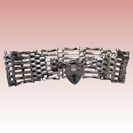 English Sterling Seven-Bar Gate Bracelet 1970, 24 grams