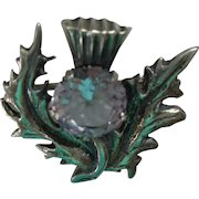 Scottish Sterling Thistle Pin/Brooch