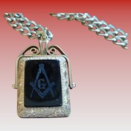 Double Fob with Masonic Seal and Carnelian Stone + Photo Frames