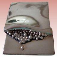 50% OFF !Vintage Silver Modernist Brooch, Sidney Carron, Paris