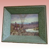 Scenic Oil Painting with Shadow Box Frame