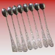 Stieff Sterling Ice Tea Spoons No Initial