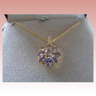 Genuine Tanzanite Pendant and Chain