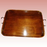 50% OFF Vintage Mahogany and Brass Gallery Tray 1900's