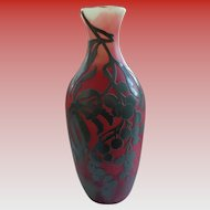 Magnificent DeVez French Cameo Glass Vase 1900 OFFERS