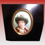 SALE 50% OFF Vintage Italian Porcelain Painting 1900