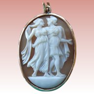 SALE Unusual Full-Figured Classical 14 K Shell Cameo 1900