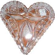 American Brilliant Glass Heart in Presentation Heart Box