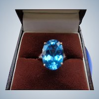 FINAL SALE Topaz Ring in 9 Carat Rose Gold Size 7