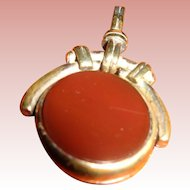 Vintage English Fob with Carnelian/Bloodstones early 1900