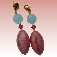 Murano Glass Pierced Earrings 18K Gold Filled
