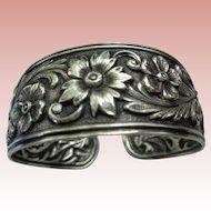 50% OFF Vintage Kirk Sterling Silver Cuff Bracelet 1920's
