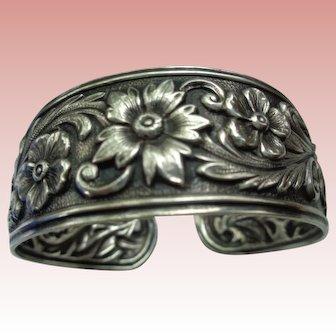 Vintage Kirk Sterling Silver Cuff Bracelet 1920's